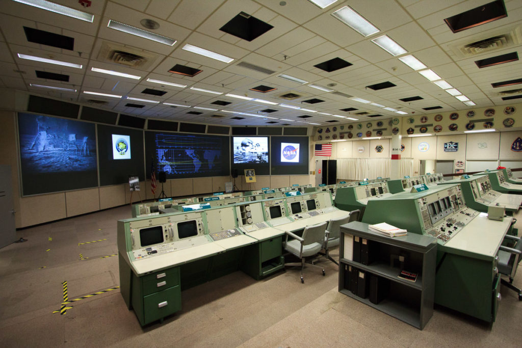 missions operations control room at JSC