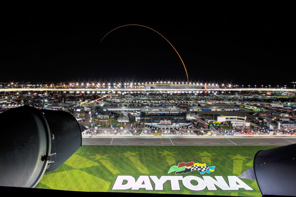 rocket launch over daytona international speedway